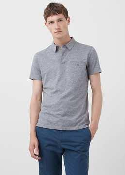 Mango Outlet Chest-pocket cotton pocket polo shirt