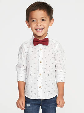 Old Navy Printed Dress Shirt & Bow-Tie Set for Toddler Boys
