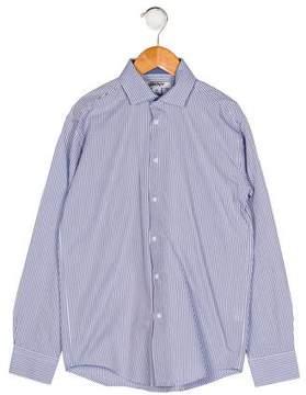 DKNY Boys' Stripe Button-Up Shirt