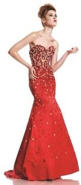 Johnathan Kayne 458 Jewel Adorned Strapless Gown