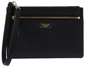 Kate Spade Tinie Laurel Way Saffiano Leather Wristlet Handbag Clutch (Black) - BLACK - STYLE