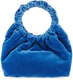 The Row Double Circle Small Velvet Handbag