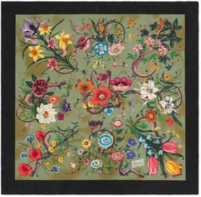 Gucci Flora Snake vintage print silk scarf