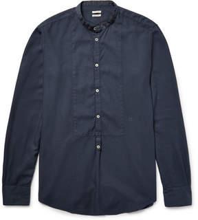 Massimo Alba Grandad-Collar Modal And Cotton-Blend Shirt