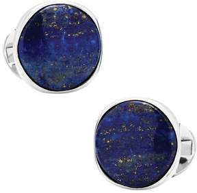 Ox & Bull Trading Co. Men's Sterling Silver Classic Formal Lapis Cufflinks