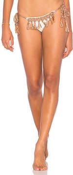 Anna Kosturova Marsala Tassel Bikini Bottom