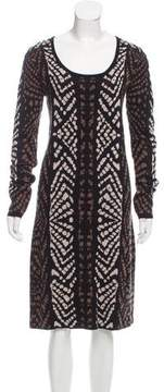 Carmen Marc Valvo Printed Midi Dress