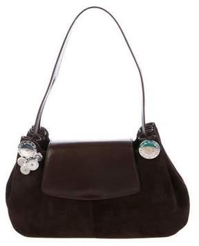 Bvlgari Embellished Suede Shoulder Bag