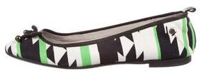 CNC Costume National Printed Bow Ballet Flats