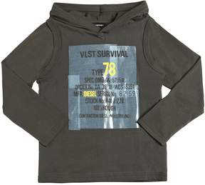 Diesel Printed Hooded Cotton Jersey T-Shirt