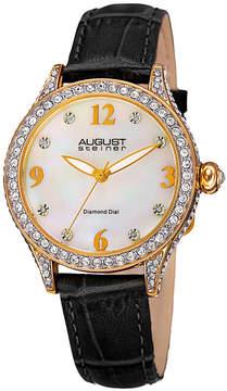 August Steiner Womens Black Strap Watch-As-8188bkg