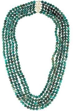 Elizabeth Showers Amazonite Multistrand Necklace