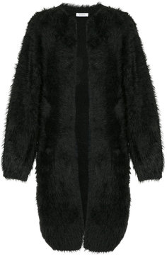 EN ROUTE fluffy longline cardigan