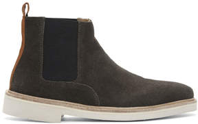 H By Hudson Grey Suede Gallant Chelsea Boots