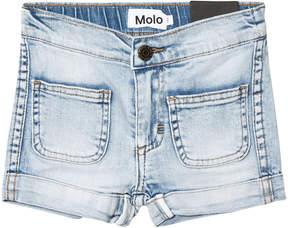 Molo Blue Denim Heavy Blast Aleen Shorts