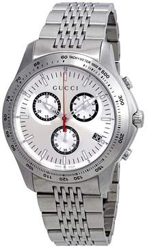 Gucci G-Timeless Chronograph Silver Dial Men's Watch