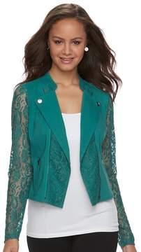 Candies Candie's Juniors' Candie's® Lace Crop Moto Jacket