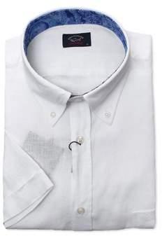 Paul & Shark Men's White Linen Shirt.