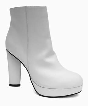 Bamboo White Twisty Bootie - Women