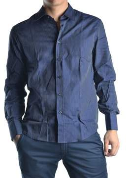 Richmond Men's Blue Cotton Shirt.
