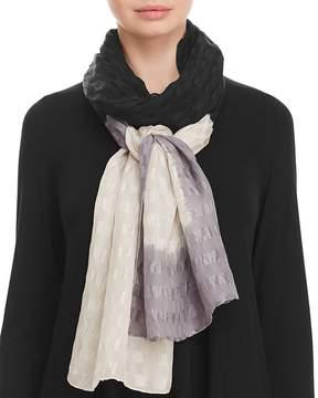 Eileen Fisher Textured Silk Tie-Dye Scarf