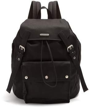 Saint Laurent Front-pocket canvas backpack