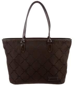 Longchamp Patent Leather Trim Tote