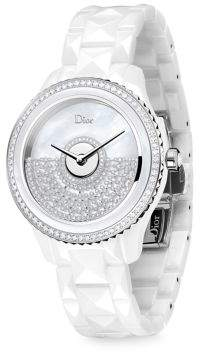 Christian Dior VIII Grand Bal Diamond, Mother-Of-Pearl & Ceramic Bracelet Watch