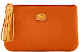 Dooney & Bourke Patterson Leather Carrington Pouch - TANGERINE - STYLE