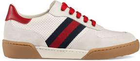 Gucci Children's suede sneaker with Web