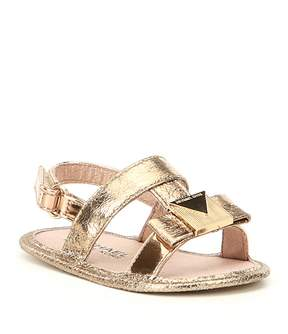 MICHAEL Michael Kors Girls' Baby Sugar Metallic Bow Detail Sandal Crib Shoes