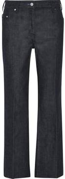 Calvin Klein Collection Cropped Mid-Rise Flared Jeans