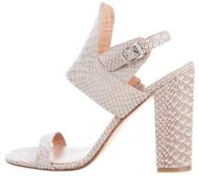 Sigerson Morrison Embossed Suede Sandals