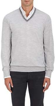Brunello Cucinelli Men's Virgin Wool-Cashmere V-Neck Sweater