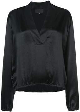Nili Lotan v-neck shift blouse