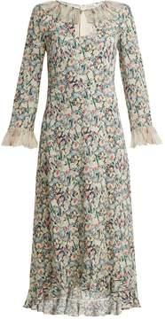 Vilshenko Cassidy ruffle-trimmed silk-chiffon dress