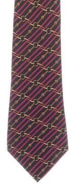 Hermes Silk Chain-Link Belt Print Tie