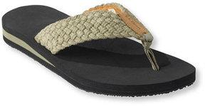 L.L. Bean Maine Isle Flip-Flops, Woven