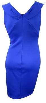 Calvin Klein Women's Shawl-Collar Scuba Knit Zip Sheath Dress (14, Atlantis)