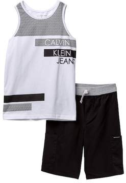 Calvin Klein Tank & Shorts Set (Big Boys)