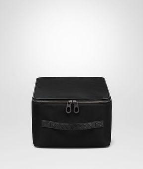 Bottega Veneta Nero Technical Canvas Shoe Case