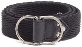 Saint Laurent Leather-trimmed canvas belt
