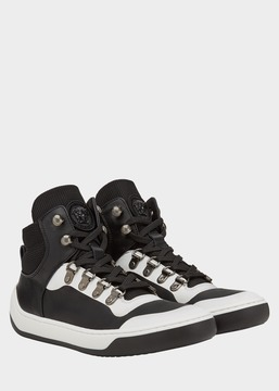 Versace Monochrome High-Top Sneakers