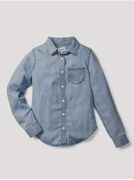 DL1961 Kids Kids | Olivia Shirt | Mid Wash | 2 years | Denim