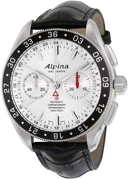 Alpina Alpiner 4 Chronograph Automatic Silver Dial Black Leather Men's Watch