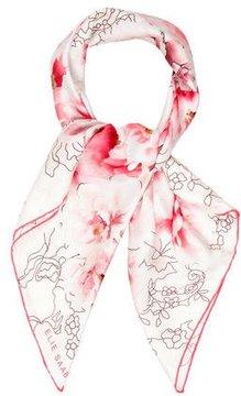 Elie Saab Silk Floral Print Scarf