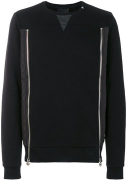 Philipp Plein double zip front sweatshirt