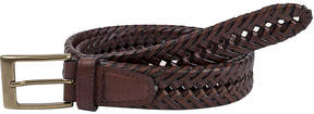 Dockers Brown Leather V-Weave Belt-Big & Tall