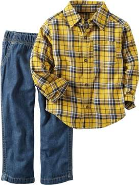 Carter's Baby Boys Pull-On Jeans Set