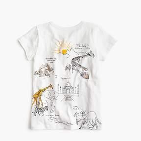 J.Crew Girls' world tour T-shirt